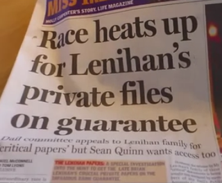 Lenihan Files discussed on video