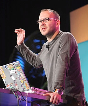 Cory Doctorow snapped by O'Reilly