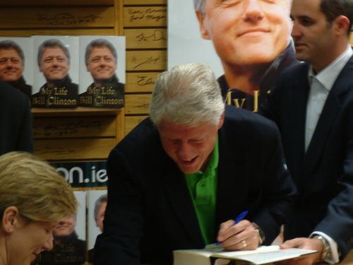 "Clinton Signing ""My Life"""
